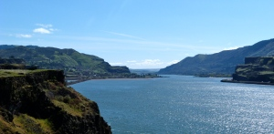 Driving East on the Columbia Gorge.