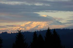 "Scott Janisch took this beautiful photo of Mt. Adams from our ""backyard."""