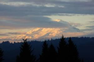 "Scott Janisch took this beautiful photo of Mt. Adams from our ""backyard."""