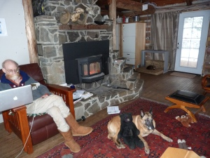 A winter's day in March by the fire.