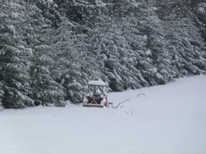 New snow on the tractor!