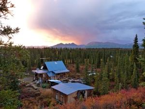 Brushkana cabin with addition in progress.