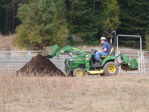 Turning compost is time-consuming, unless you can get someone else to do it! In my best Tom Sawyer fashion, I convinced my brother, Richard, that it was fun!